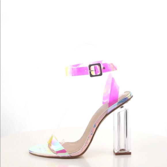 4ad55cc7d8b9 Iridescent block heel. M 5ba8e160de6f6261db6c079b
